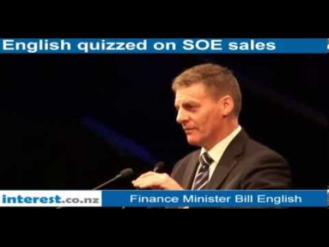 Bill English says cant stop public asset share being sold offshore or would not be a free market.