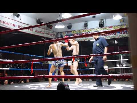 Chris Ford muay Thai first fight (Thapae Stadium, Chiang Mai)