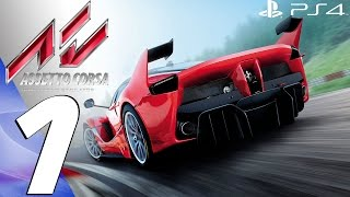 Assetto Corsa (PS4) - Gameplay Walkthrough Part 1 - Prologue (Full Game) FIRST RACES