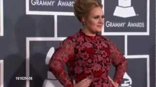 Adele At The 55Th Annual Grammy Awards (Red Carpet & Grammy winner)