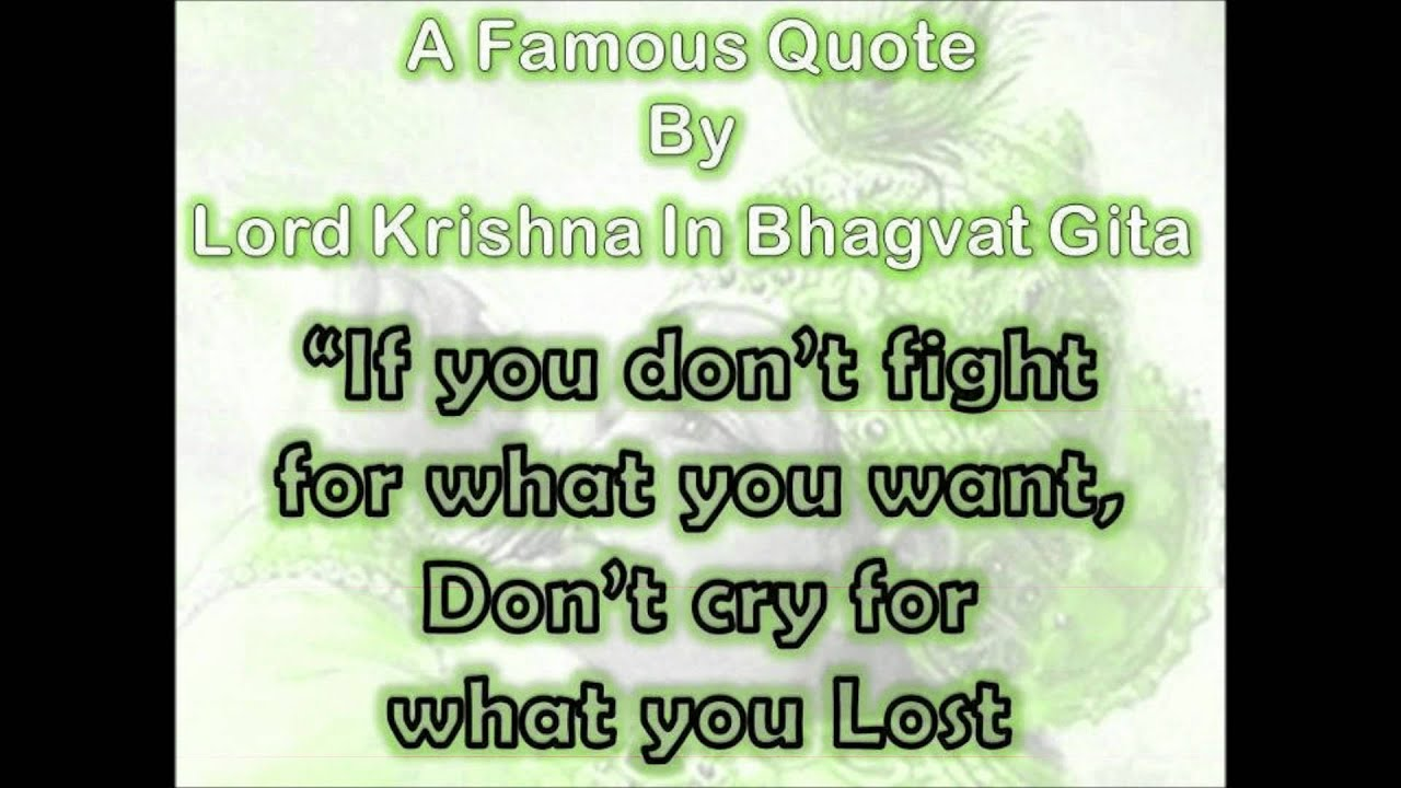 Lord Krishna Quotes Krishna Quotes In Geeta  Youtube