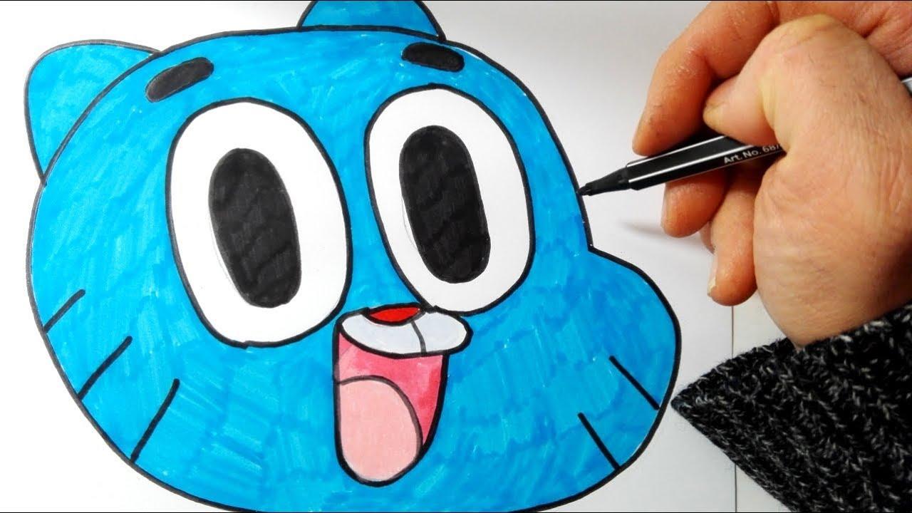 Come Disegnare E Colorare Gumball Youtube