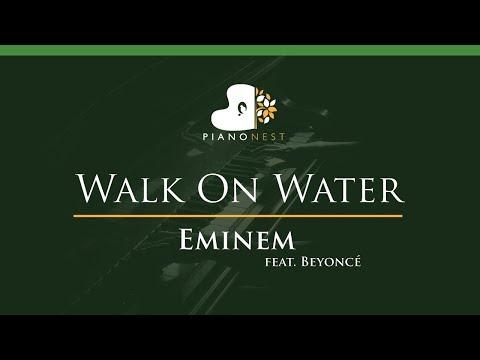 Eminem - Walk On Water (feat. Beyoncé) - LOWER Key (Piano Karaoke / Sing Along)