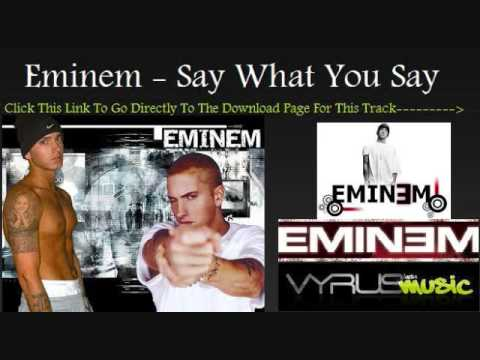 Eminem Feat Dr Dre- Say What You Say