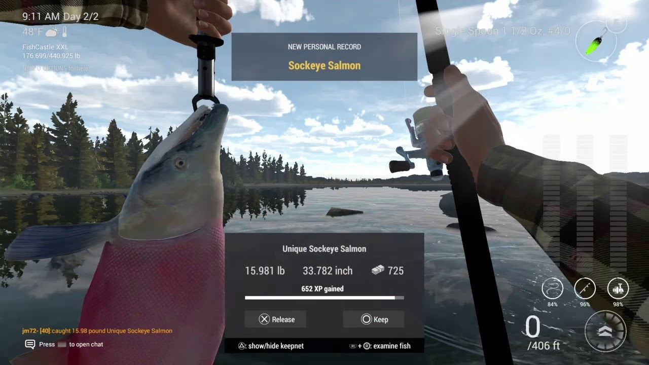 Fishing planet ps4 kaniq creek alaska guide 2 catch unique for Fishing planet ps4