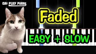 Faded - Piano Tutorial Easy SLOW + Free Sheet Music PDF - Alan Walker