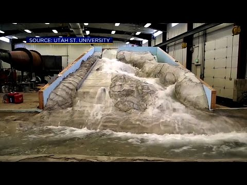 Engineers Test Oroville Dam Repairs On Giant Replica Of Spillway