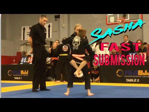 Jiu Jitsu Girl Vs Boy  Fast Submission