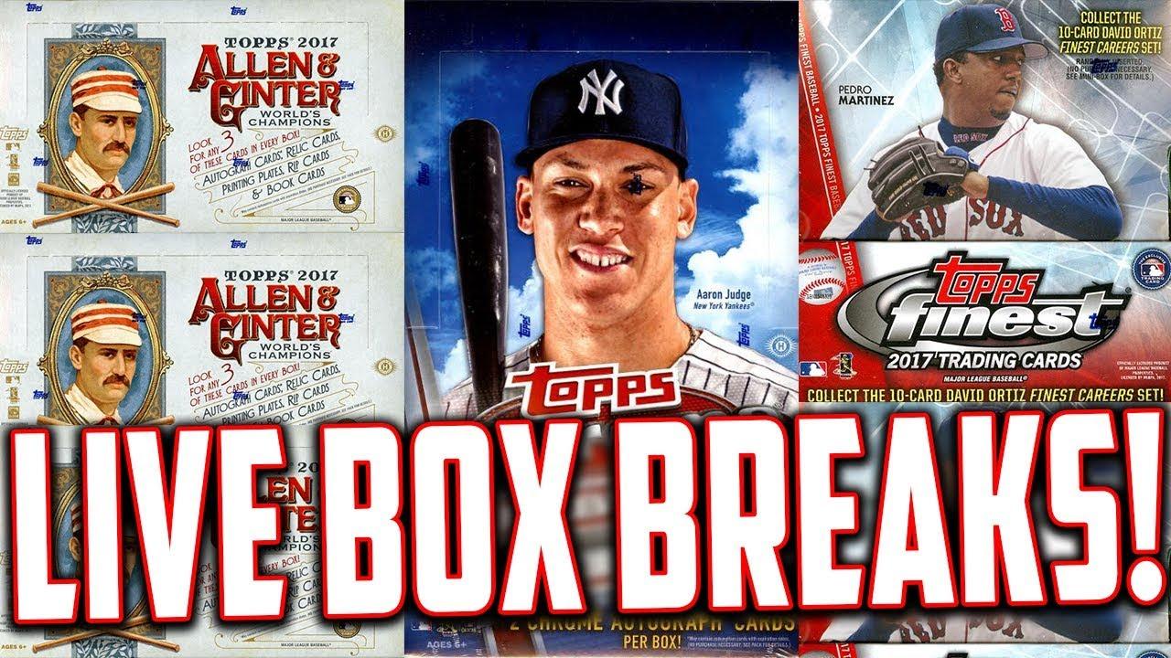 Live Box Breaks 2017 Topps Chrome Baseball 2017 Topps