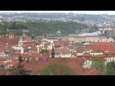 Prague Czech Republic A view of the city from Strahov Monastery