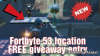 Fortnite Forbyte 53 exact location (FREE giveaway to ALL new subscribers see below)