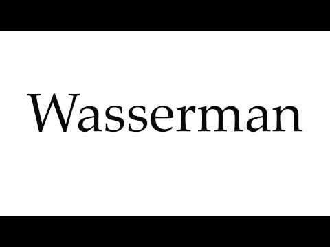 How to Pronounce Wasserman