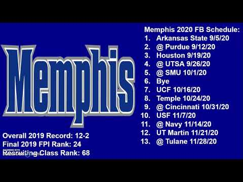 Memphis Tigers 2020 Football Schedule Breakdown And Record Projection