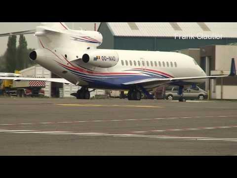 Antwerp airport Dassault Falcon 7X delivery flight