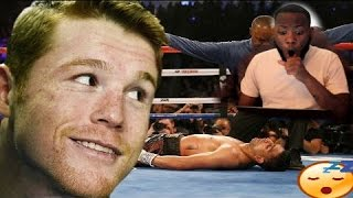 TOP 10 CANELO ALVAREZ KNOCKOUTS REACTION