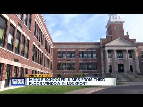 Middle schooler jumps from third floor window in Lockport