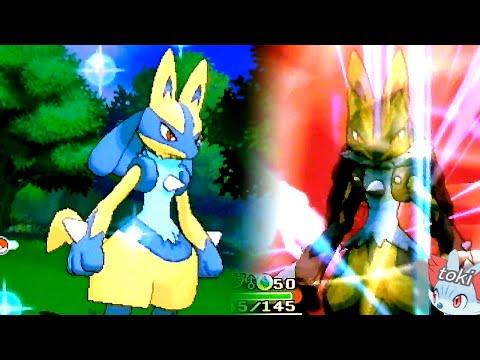 ポケモンオメガルビー・アルファサファイア 色違いリオルの進化 色違いルカリオ&メガルカリオ Pokémon Omega RubyShiny Mega Lucario!