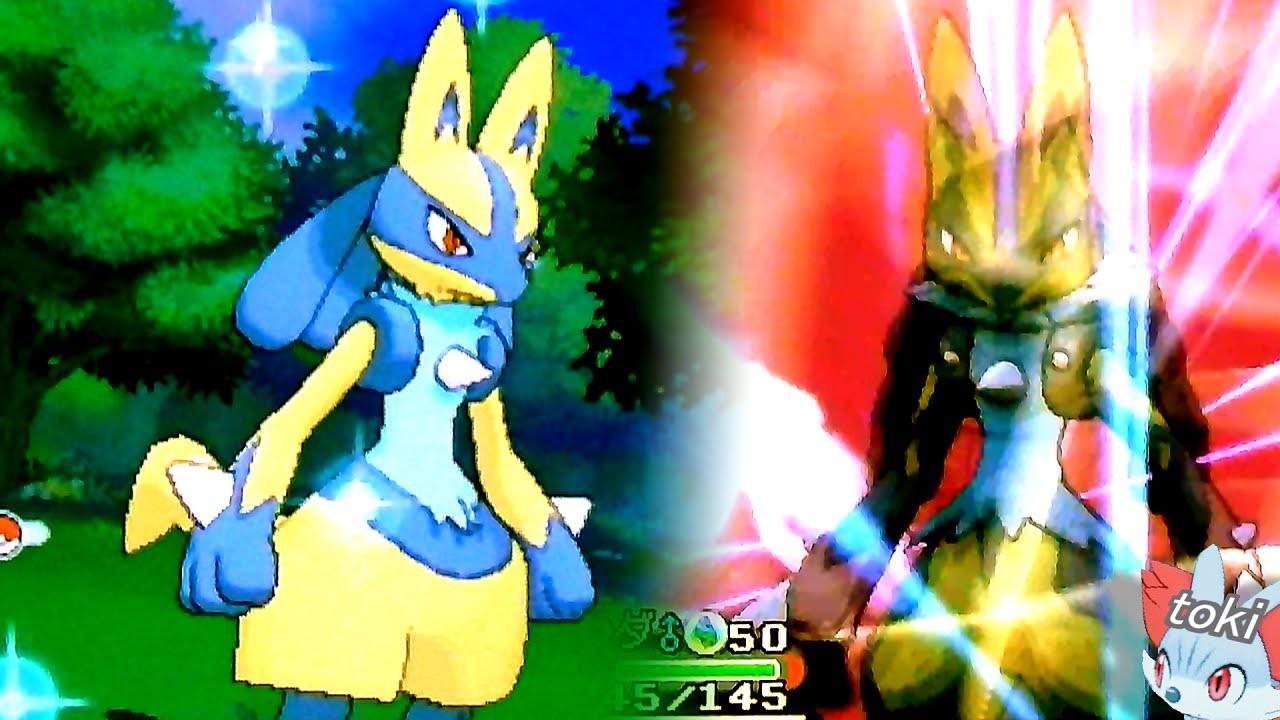 ポケモンオメガルビー・アルファサファイア 色違いリオルの進化 色違いルカリオ\u0026メガルカリオ Pokémon Omega Ruby Shiny Mega  Lucario! , YouTube