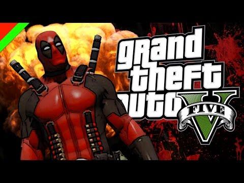 Grand Theft Auto V - Deadpool ฮีโร่พันธ์ุเกรียน (GTA V Mod,ตลก,ฮา)