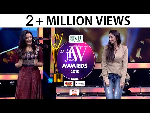Simran and Manju Warrier Dance at JFW awards 2018