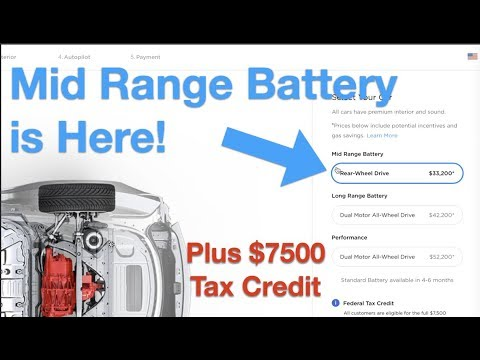 Cheaper Tesla Model 3  Mid Range Battery