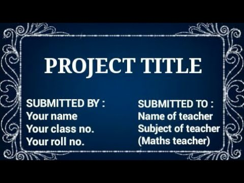 23 ideas of project file cover page decoration ! Project work