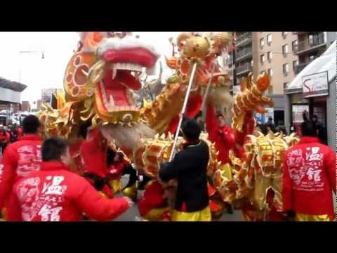 Lion \ Dragon Dance \ Chinese Lunar New Year Parade - Flushing Queens NYC