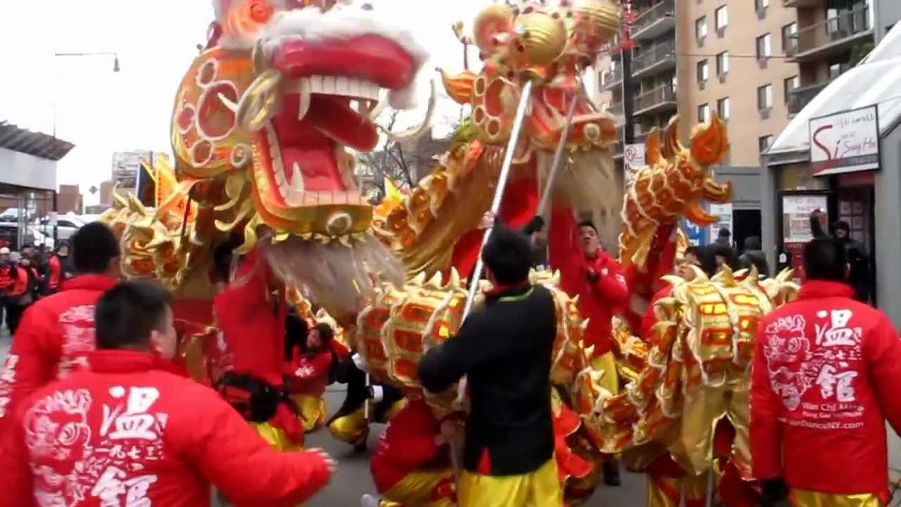 Uncategorized Chinese New Year Dance lion dragon dance chinese lunar new year parade flushing queens nyc youtube