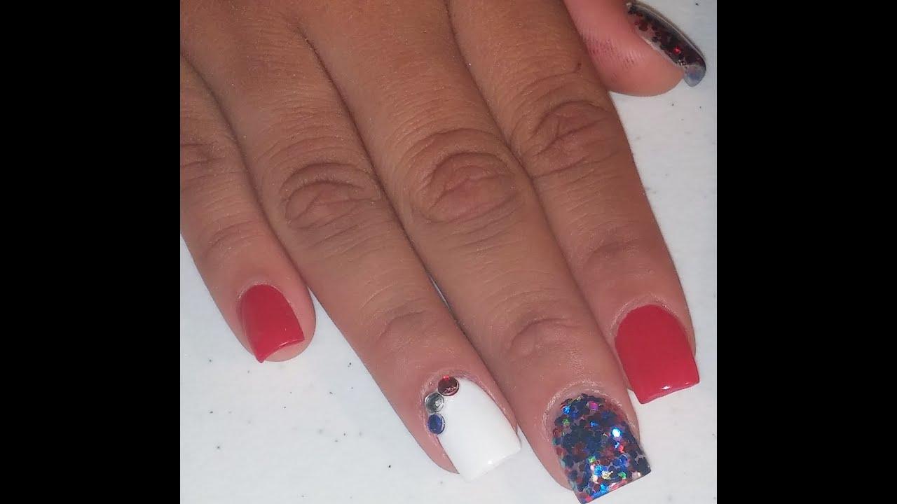 Texans Themed Nails
