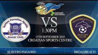 FGC CHW Premier League Res - Surfers Paradise vs Broadbeach Utd (4-2)