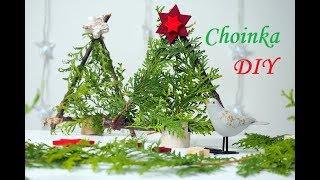 Choinka z patyków i gałązek DIY na Boże Narodzenie, dekoracje na święta, moje dzieci kreatywnie