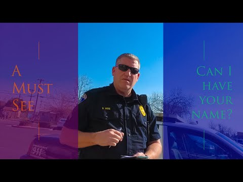(Wow) Unprofessional Senior Officer Confused and Angry. First Amendment Audit Bakersfield