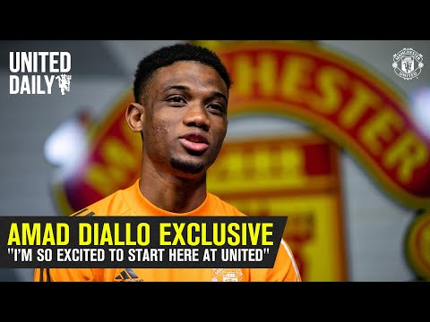 """""""I'm so excited to start here at United""""   Amad Diallo Exclusive First Interview   Manchester United"""