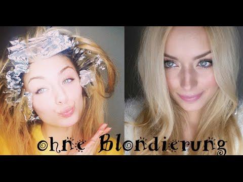 Haare blondieren ohne farbe
