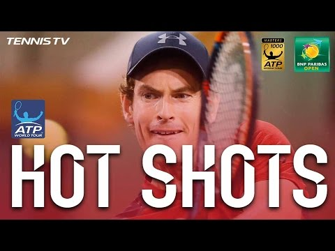 Hot Shot: Murray Lob Kisses The Line In Indian Wells 2017