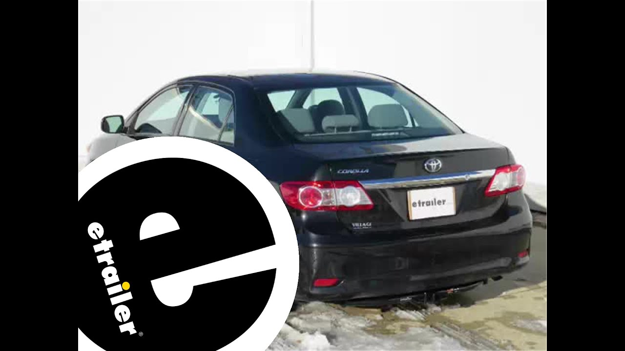 Installation Of A Trailer Hitch On A 2013 Toyota Corolla