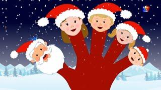 палец Санта Клаус семья русский Рождественская песня С Рождеством Santa Claus Finger Family