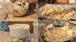 ♡4 Delicious Sweet & Savoury Popcorn Recipes! | Nikki Lilly
