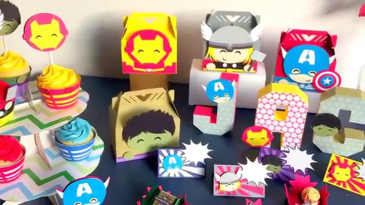 & Avengers birthday party decorations! - YouTube