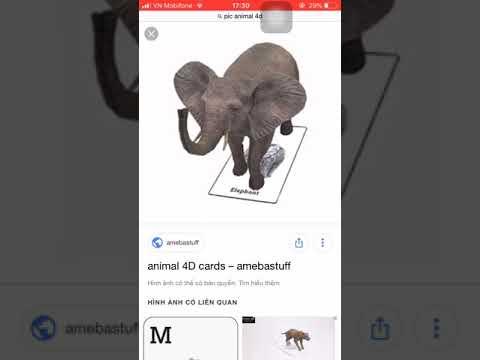 HƯỚNG DẪN CÁCH TẢI VÀ SỬ DỤNG APP ANIMAL 4D+ trên điện thoại