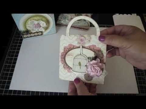 Bona For AccuCut Craft - 3 Projects 1 Purse Pocket Die!    Make A Card, Scrapbook Album And Gift Box