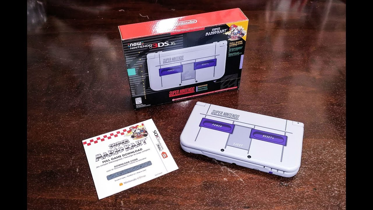 Unboxing The New Nintendo 3ds Xl Snes Edition Youtube