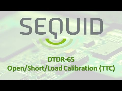 Open/short/load calibration of Sequid DTDR-65 time-domain reflectometer