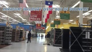 Walmart Closed It's Doors For Good!  On To Amazon