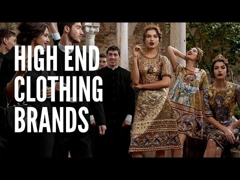 The 15 Most Popular High End Clothing Brands