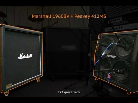 4x12 Cabs Shootout: Marshall 1960BV, Mesa Rectifier, Peavey 412MS