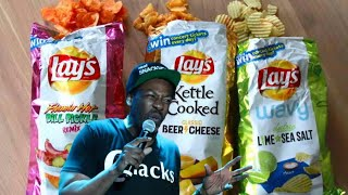 #2019 #Lays #Chips  LAY'S  Flam'n Hot Dill Pick Lime & Sea Salt  and Beer & Cheese Flavored Chips!!!