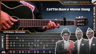Astronomia (Coffin Dance Meme Song) Fingerstyle Guitar Cover + TAB Tutorial