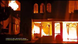 Fire reduces 95 years old church to ashes | Church of God Qualapatty, Shillong