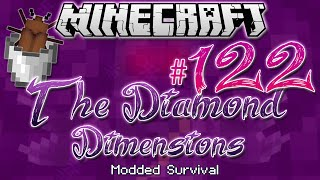 'MILKING A BEETLE' | Diamond Dimensions Modded Survival #122 | Minecraft